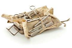 Old military surgical set Stock Images