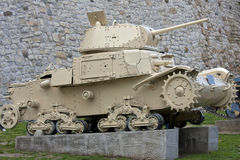 Old military tank Royalty Free Stock Images