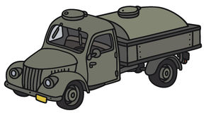 Old military tank truck Royalty Free Stock Images