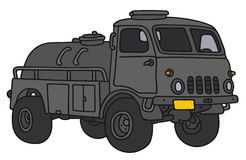 Old military tank truck. Hand drawing of an old small terrain military tank truck - not a real model Royalty Free Stock Images