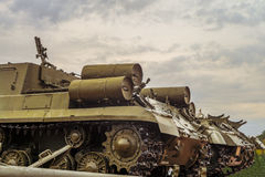 Old military tanks Royalty Free Stock Photography