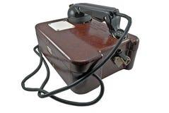 Old military telephone Stock Photo