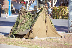 Old military tent Stock Image
