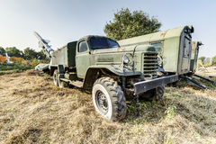 Old military truck. An abandoned old military trucks, type ca30, produced by the china first automobile works(faw) in 1960, is china's first military off royalty free stock photography