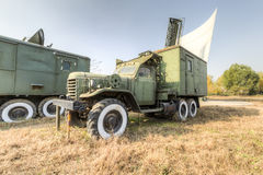 Old military truck. An abandoned old military trucks, type ca30, produced by the china first automobile works(faw) in 1960, is china's first military off stock image