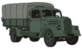Old military truck. Hand drawing of old military truck Stock Image