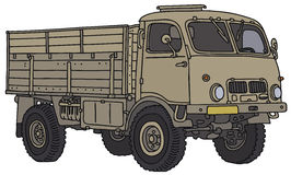 Old military truck. Vector illustration, hand drawing Royalty Free Illustration