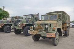 Old military trucks Stock Images