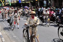 Old military uniforms and bicycles, Yogyakarta Stock Photography