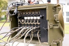 Old military us army radio receiver transmitter Stock Photography