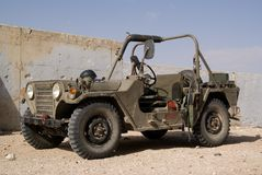 Old military vehicle. The old military light vehicle stock images