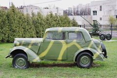 Old military vehicle show in Moscow Stock Images