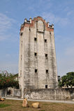 Old military watchtower in yard of Southern China Royalty Free Stock Photo