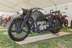 Old military Zundapp KS 600. Old military motorcycle Zundapp KS 600 (1939) of the German Army, used in the Second World War, at motorcycle show of Motoclub i stock photo