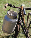 Old Milk Canister used by farmers to carry fresh milk Stock Photography