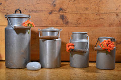 Old milk cans Royalty Free Stock Photo