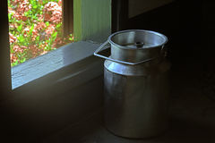Old milk churn Royalty Free Stock Photo