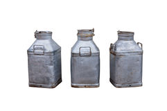 3 old milk churns Royalty Free Stock Photo