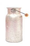 Old milk jug made of metal Stock Photo