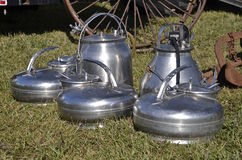 Old milking buckets Stock Photography