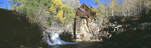 Old mill. Mill at Crystal River Valley, Autumn, Colorado Stock Photo