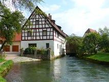 Old mill. Frame house; Franconia; Bavaria stock photos