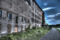Old mill. Abandoned mill and horse path Royalty Free Stock Photo
