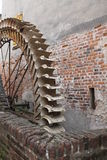 Old mill. In ancient construction stock photography