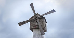 Old Mill on the background of sky. Royalty Free Stock Photography