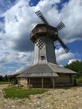 Old mill. In belarussian village stock photo