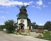 Old mill in Belokuriha resort. Altai. Stock Photos