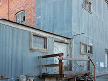 Old mill building. Classic old textile mill building Stock Photo