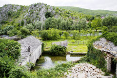 Old mill on Buna River, Blagaj Stock Images