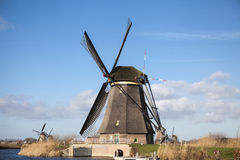 Old mill chalk and flour . The beautiful backdrop of the countryside of Holland. Royalty Free Stock Photography