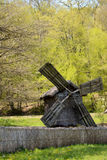 Old mill in the country side. Wooden mill in the on a sunny day Stock Images
