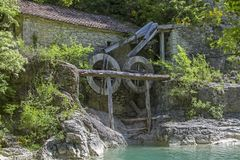 Old mill in Croatia stock images