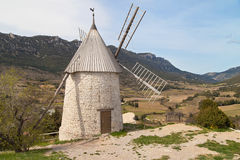 Old mill of Cucugnan Stock Image