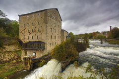 The old mill in Elora, Canada by the gorge Royalty Free Stock Photo