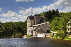 The old mill in Elora, Canada on a sunny day Stock Photo
