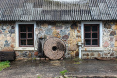 Old Mill. In Engure, Lettland Stock Photo