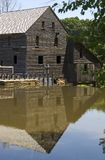 Old Mill House. Reflection in the pond Royalty Free Stock Images