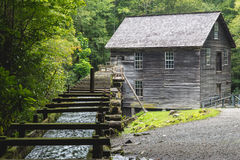 Old mill house in the Great Smoky Mountains. An old mill house with a waterway in the Great Smoky Mountains Royalty Free Stock Photography