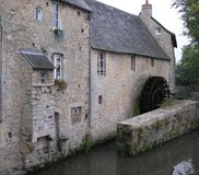 Old Mill House on a Grey Day, France. Royalty Free Stock Image