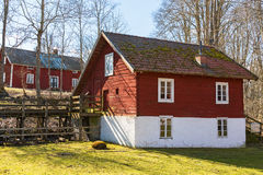 Old mill house. In spring Royalty Free Stock Image