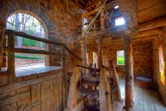 Grist Mill. Old Mill Interior in North Little Rock, Arkansas Royalty Free Stock Images