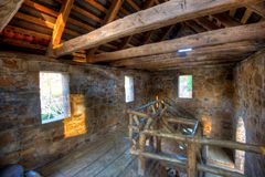 Old Mill 2nd floor. Old Mill Interior in North Little Rock, Arkansas Stock Image