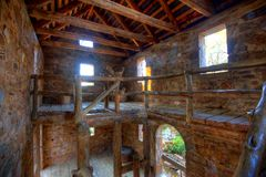 Old Mill Upper Level. Old Mill Interior in North Little Rock, Arkansas Stock Photos