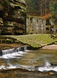 Old mill with Kamenice river Stock Image