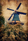 Old mill in Keukenhof Stock Photography