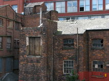 Old mill Manchester. Urban dereliction. An old disused mill in the hart of the city of Manchester England royalty free stock photos